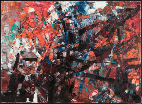 <strong>Jean-Paul Riopelle</strong><br> <em>Untitled</em>, 1955<br> Oil on canvas<br> 28 ¾ x 39 1/3 in <br>(73 x 100 cm)